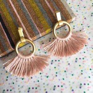 madewell | tassel hoop earrings
